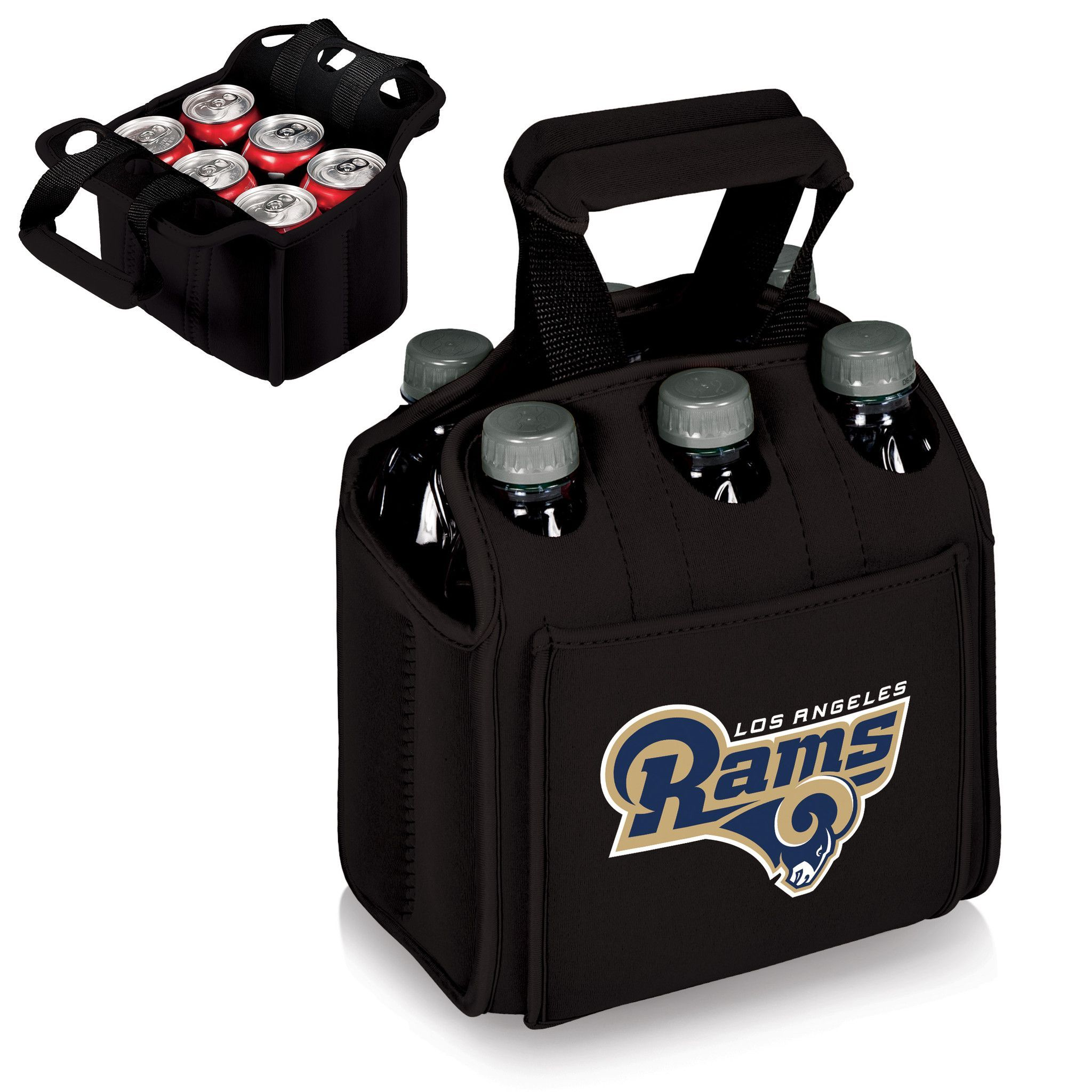 The Los Angeles Rams Six Pack Cooler keeps a 6-pack cold and easy to carry