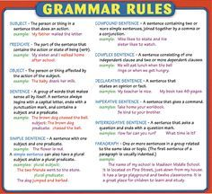 there is also rule in the grammar free classes pinterest