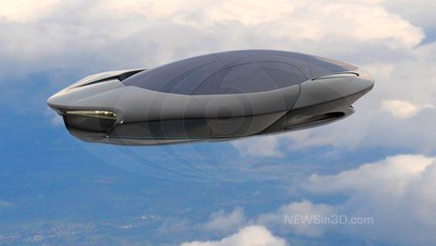 This futuristic take on a flying car in high definition Broadcast