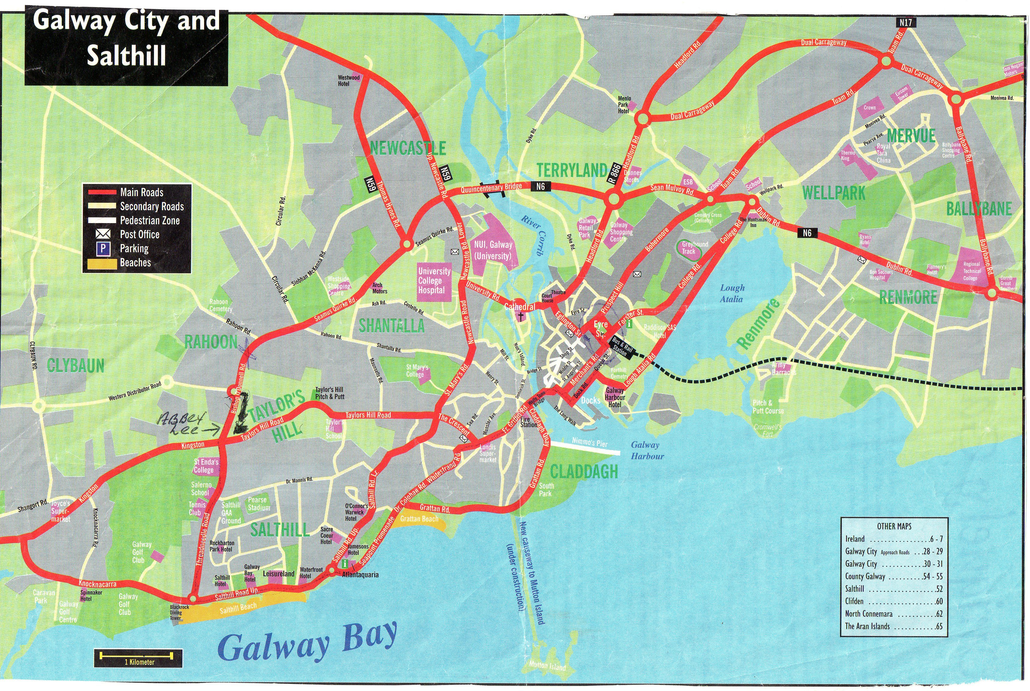 Bathroom Makeover Galway this is a map of galway city and salthill the beach area ,near