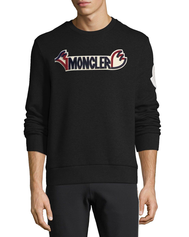 Logo Patch Sweatshirt In Black