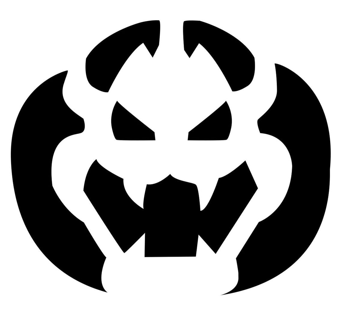 Nintendo Bowser Pumpkin Carving Pattern