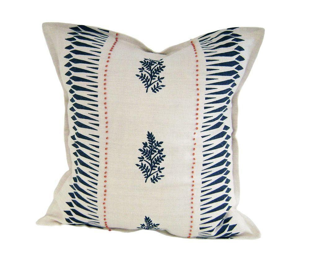 Geo Stripe Pillow Navy Block Printed Pillows Pillows Stripe Pillow