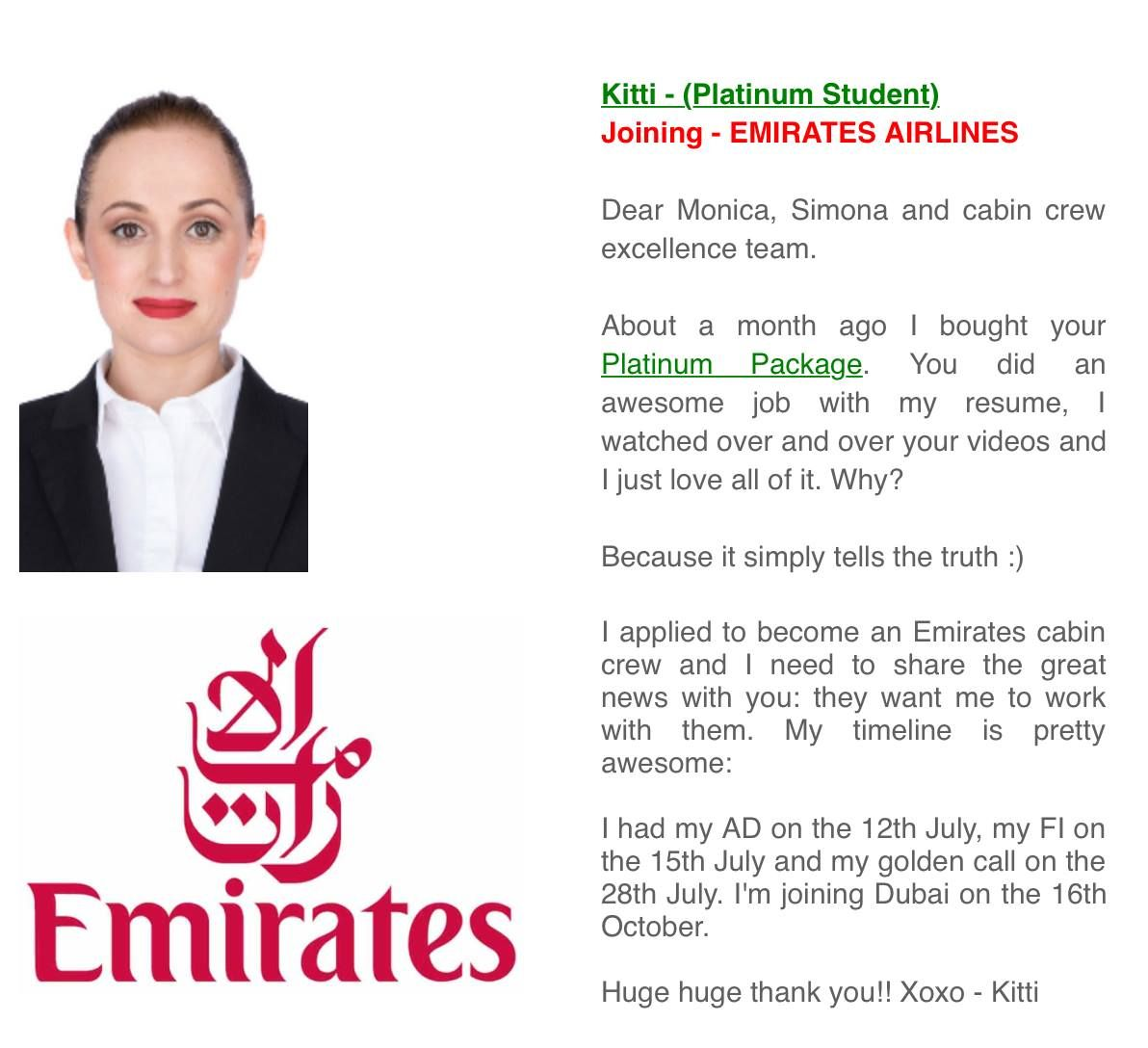 Kitti Is One Of Our Platinum Students And Now A Future Emirates
