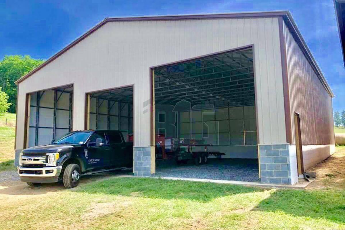 The Natalie 40x50x14 Big Buildings Direct In 2020 Shop Building Plans Building A Garage Garage Door Framing