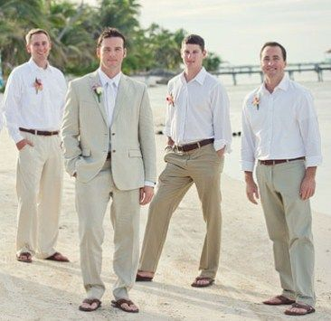 Mens beach wedding attire ideas | The Best Wedding Info For You | Lou Outfit Ideas | Pinterest