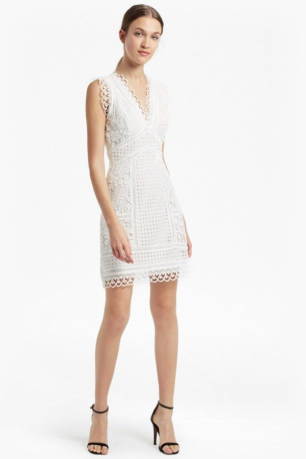 ea32bf5e3e French Connection Zhara Lace Fit and Flare Dress