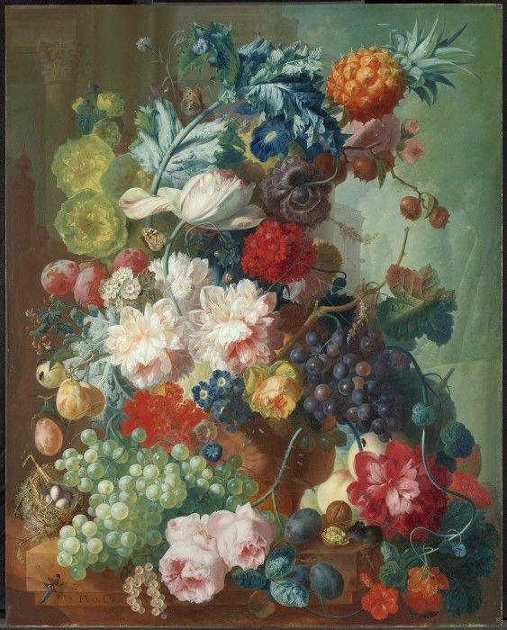 Φρούτα και λουλούδια σε βάζο τερακότα, Jan van Os, 1777-8. The National Gallery, London. ©The National Gallery, London.