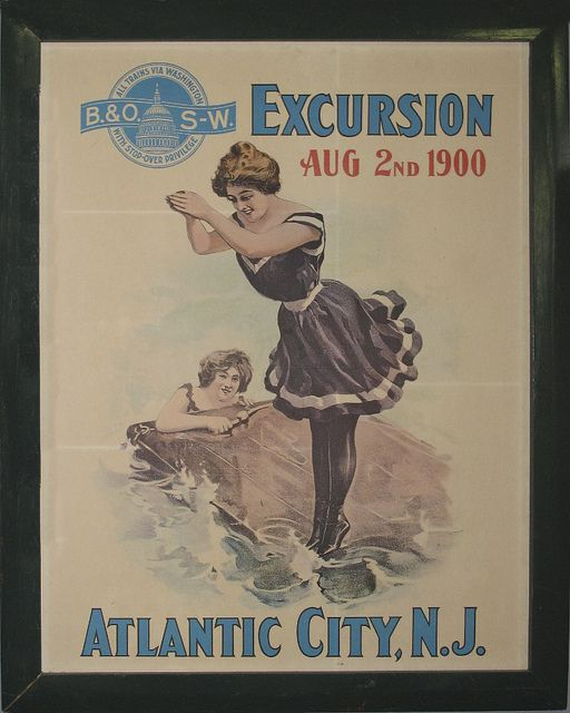 Atlantic City 1900 Vintage Beach Posters Atlantic City Travel Atlantic City