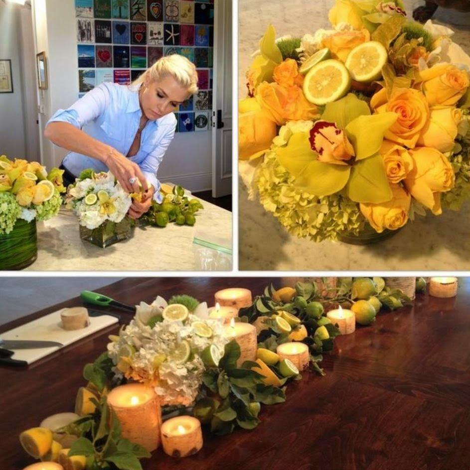 Yolanda Foster And Her Lemons Floral Decor Ideas Home Design
