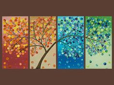 Season tree painting on Pinterest | Tree Paintings, Seasons and ...