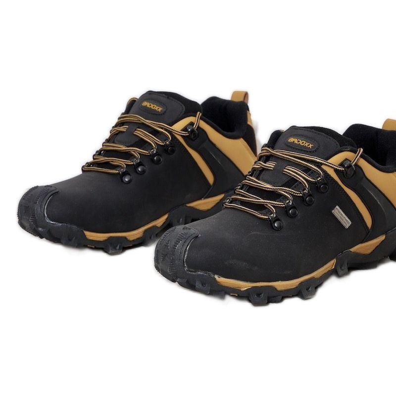 Trekkingowe Obuwie Meskie Mezczyzni Butymodne Czarne Ocieplane Trapery Meskie Bamroks Zolte Hiking Boots Shoes Boots