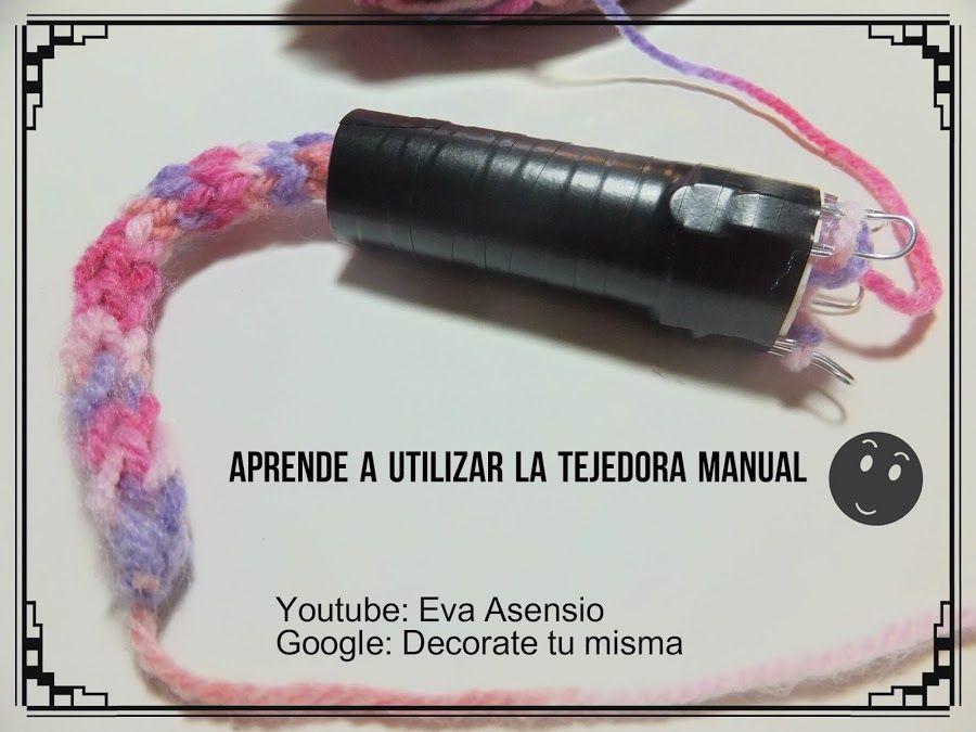 DECORATETUMISMA nos enseña a realizar una tejedora manual para tricotar cordones con materiales muy básicos.