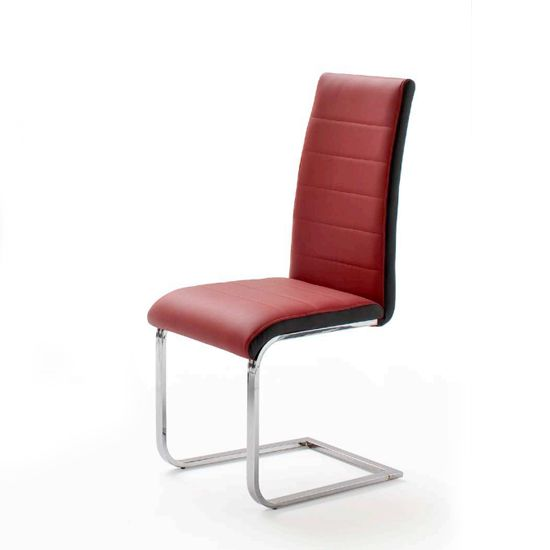 Top Red And Black Pu Leather Dining Chair Dining Chairs Uk