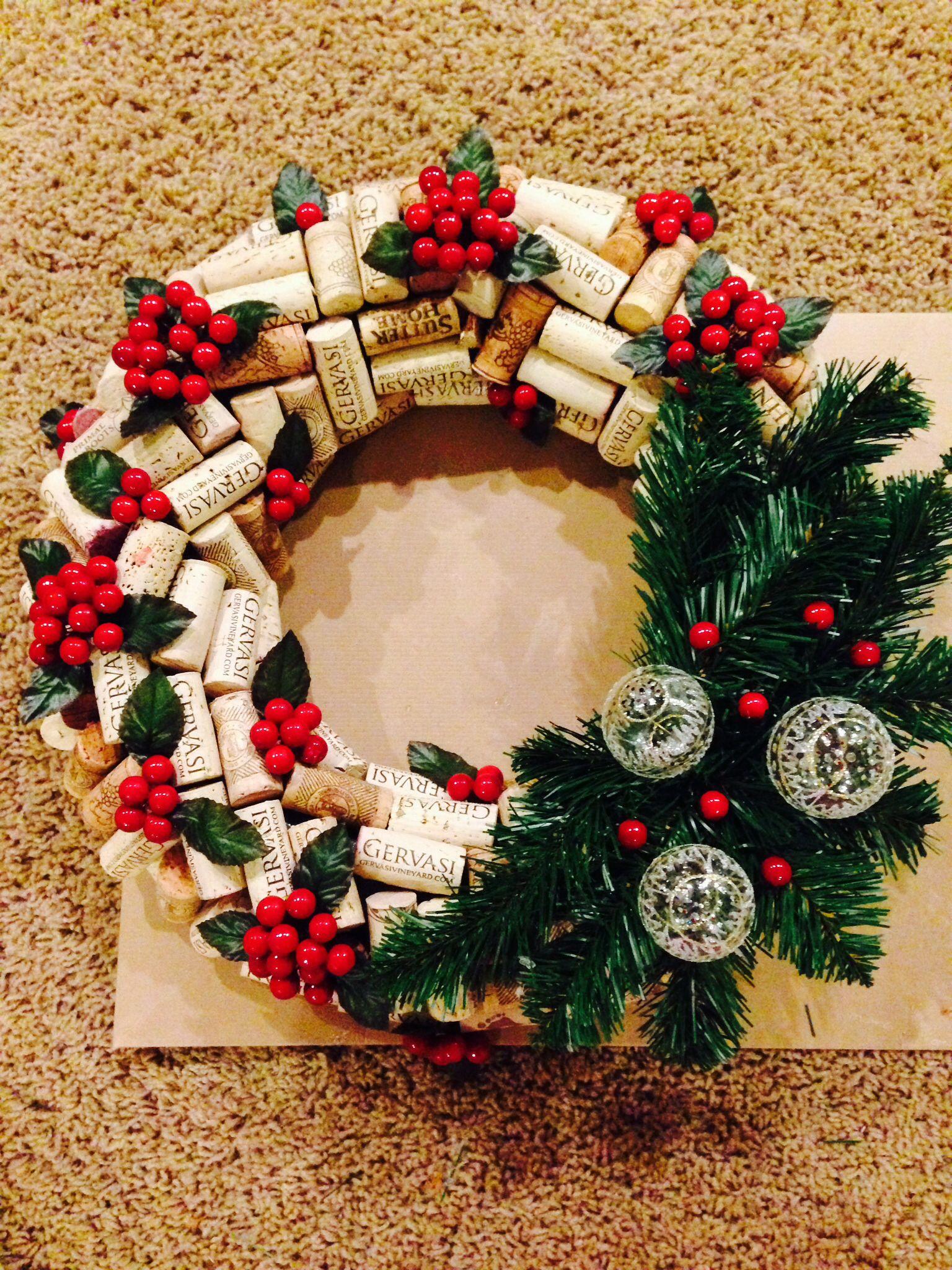 Wine cork wreath Wine cork wreath