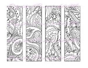 Printable Bookmark Coloring Page book mark adult instant download ...