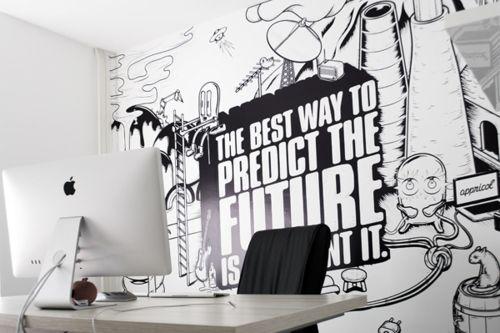 #interior Graphic Design Street Art #office Black White