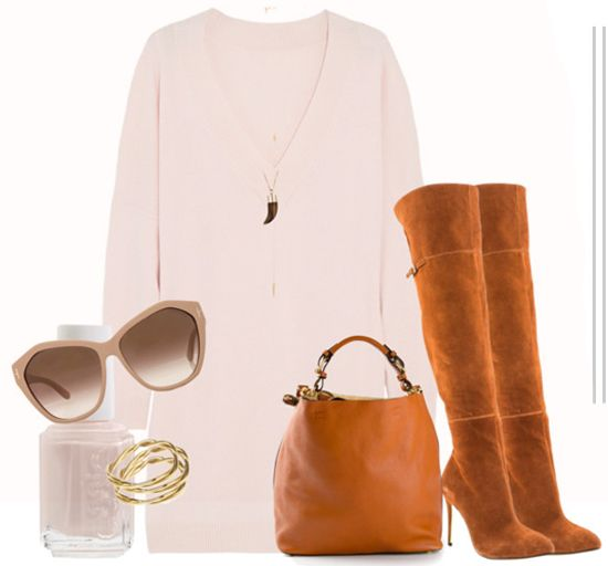 Color Combo Love: Cognac + Blush