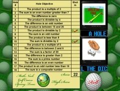 http://ictmagic.visibli.com/share/aaSOxH  An interesting golf themed maths game where players must click on the correct properties described based on numbers given.
