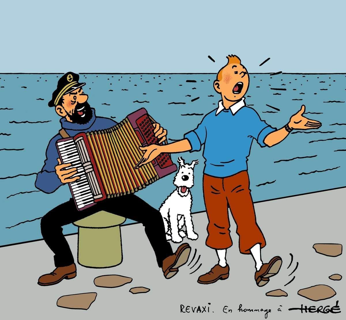 Tintin chante tintin pinterest tintin - Image de tintin et milou ...
