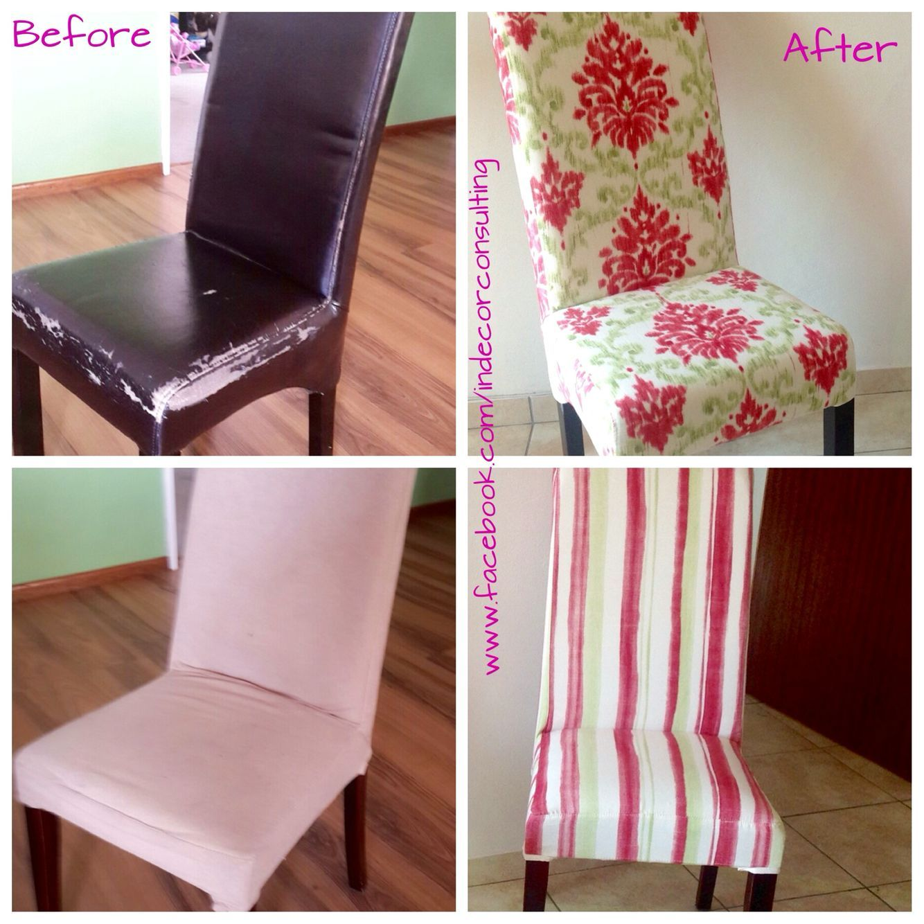 Old Faux Leather Chairs Reupholstered