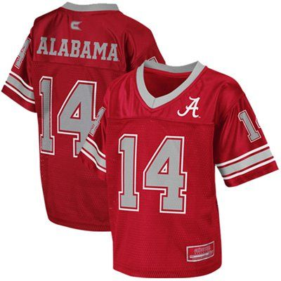 new styles 21a47 3b8b0 Alabama Crimson Tide #14 Toddler Stadium Football Jersey ...