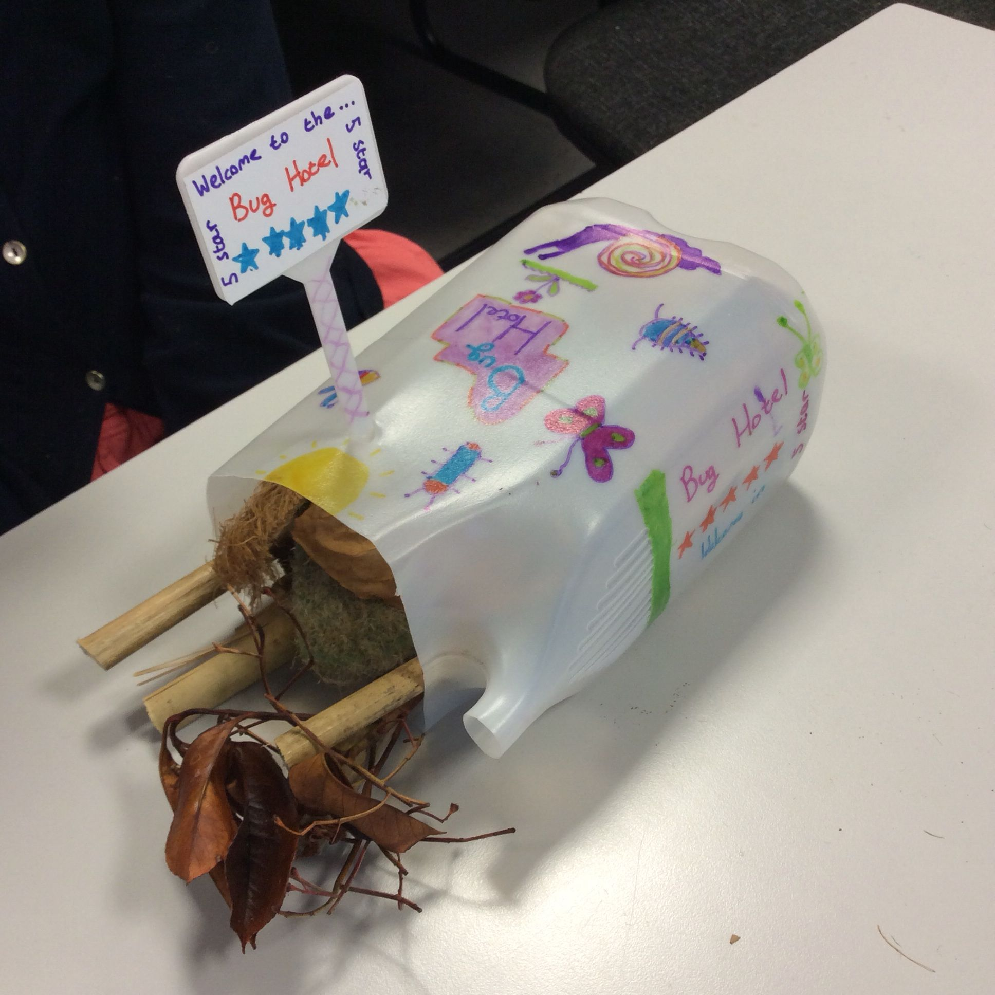 Fun children's activity, craft, kids, bug hotel, insect house ...