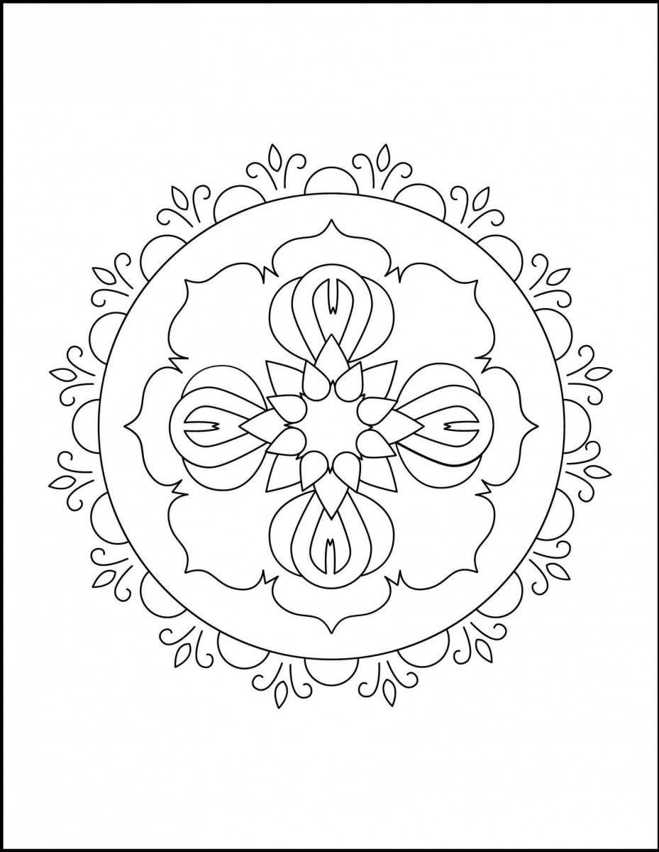 Rangoli Mandala Coloring Page Mandala Coloring Pages Mandala
