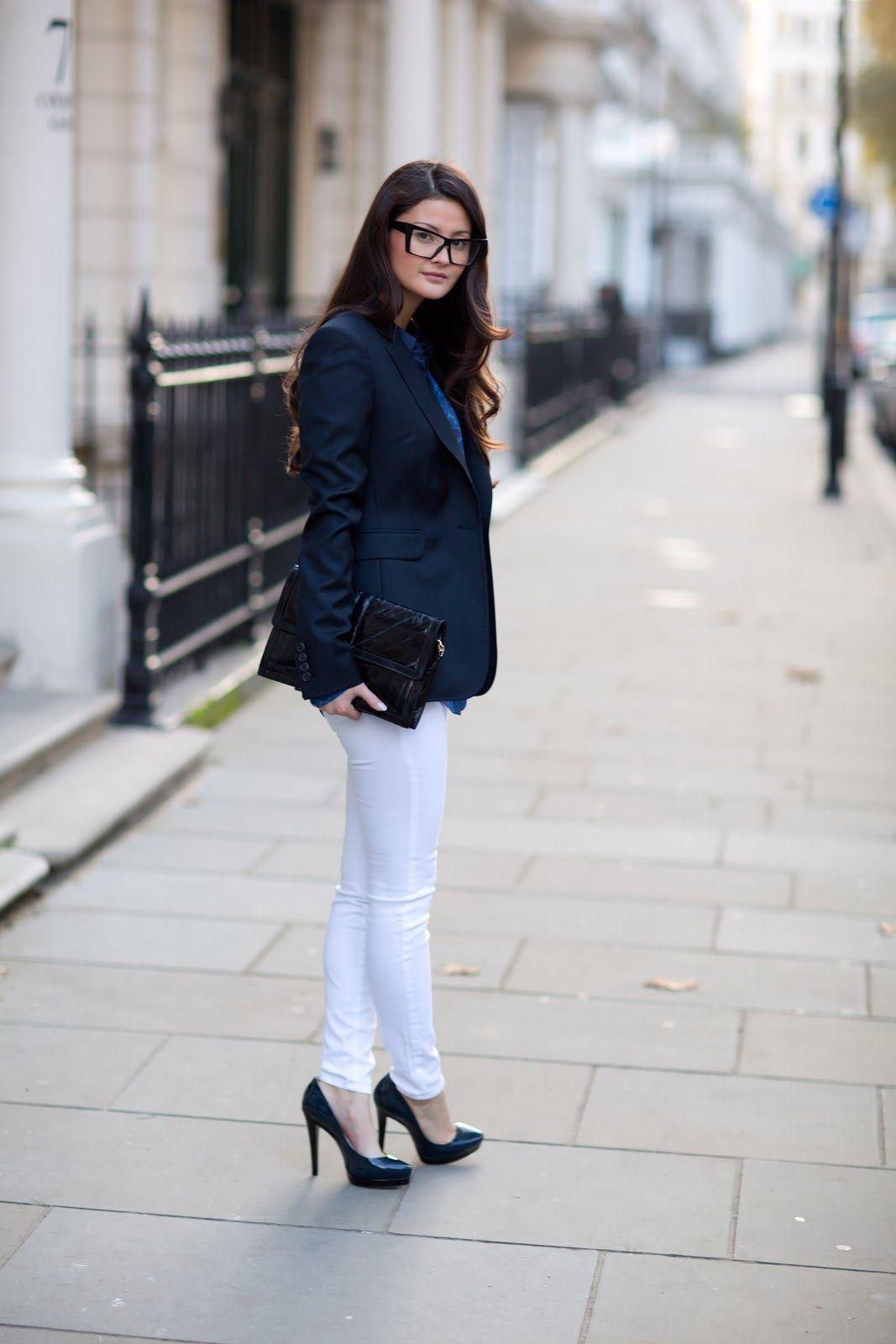 bc6f8fbec6a navy blazer  white jeans  black heels  blue top