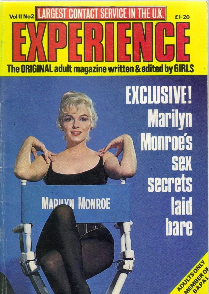 "Experience - Vol. 11, No. 2, 1980's, magazine from the United Kingdom. Front cover photo of Marilyn Monroe in publicity for ""Let's Make Love"", 1960."