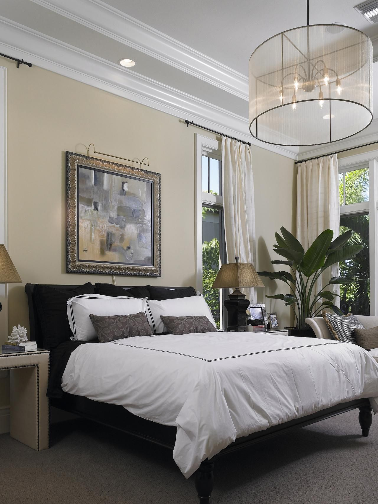 10 all-white bedroom linens | elegant chandeliers and bed skirts