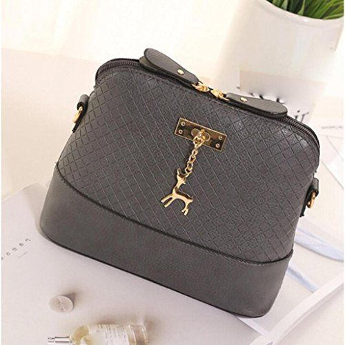 Fashion Women Girl Messenger Bags Vintage Small Shell Leather Handbag Casual Bag
