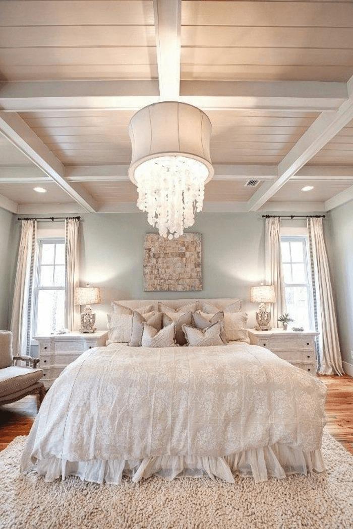 Gut Lampe Für Schlafzimmer Weißes Interieur Ideen