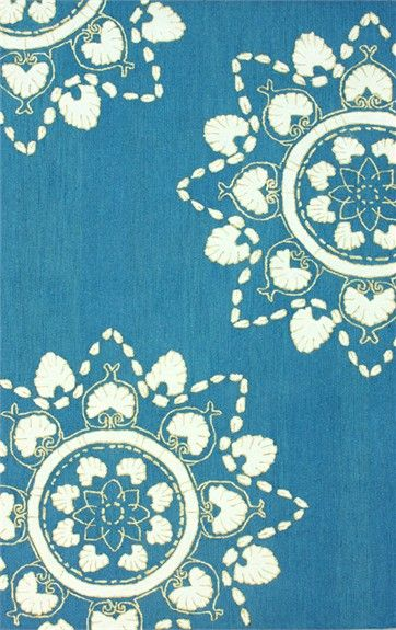 Ian Cotton Rug in Blue #rosenberryrooms