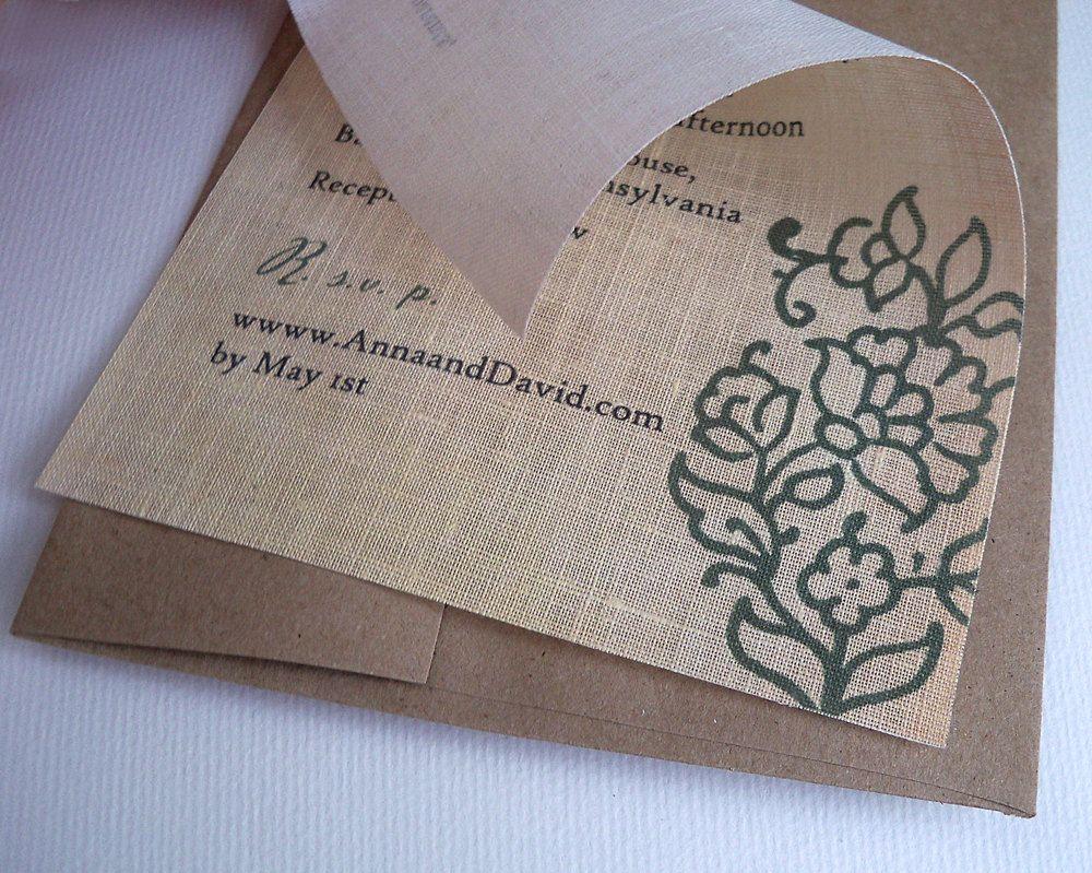 Mehndi Party Invitation Template : Vintage paisley fabric wedding invitation by artfulbeginnings $4.00