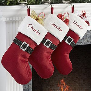 Santa Belt Personalized Christmas Stockings | Christmas gifts ...