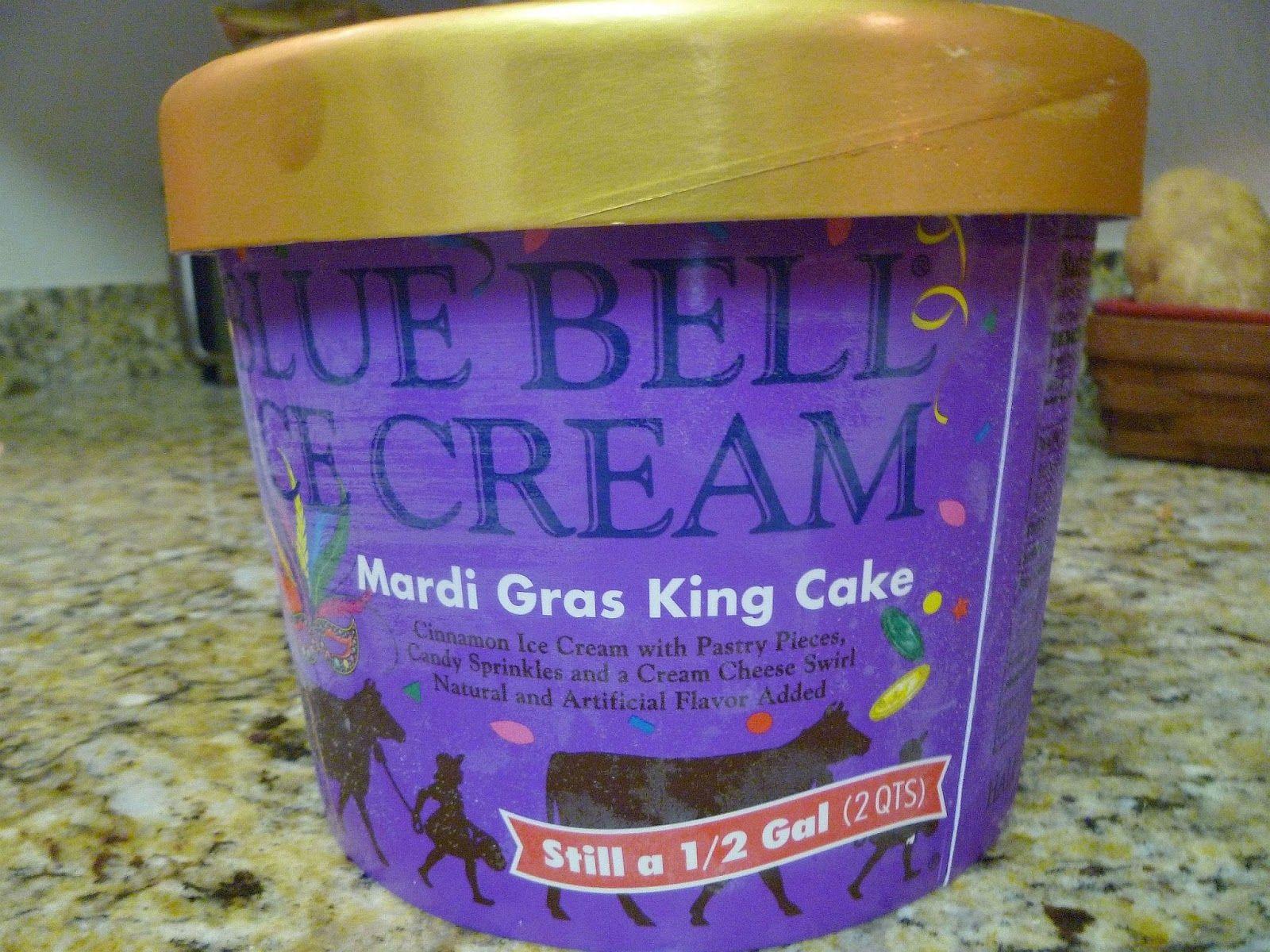 Blue bell ice cream mardi gras king cake mardi gras king