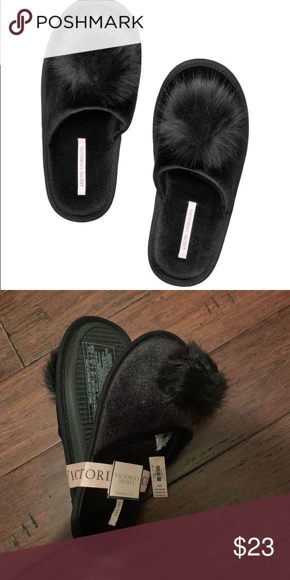 e9039f377ed New Victoria secret Pom Pom Slippers Size M 7-8 Normally  30 Instant  warm-and-fuzzy feels