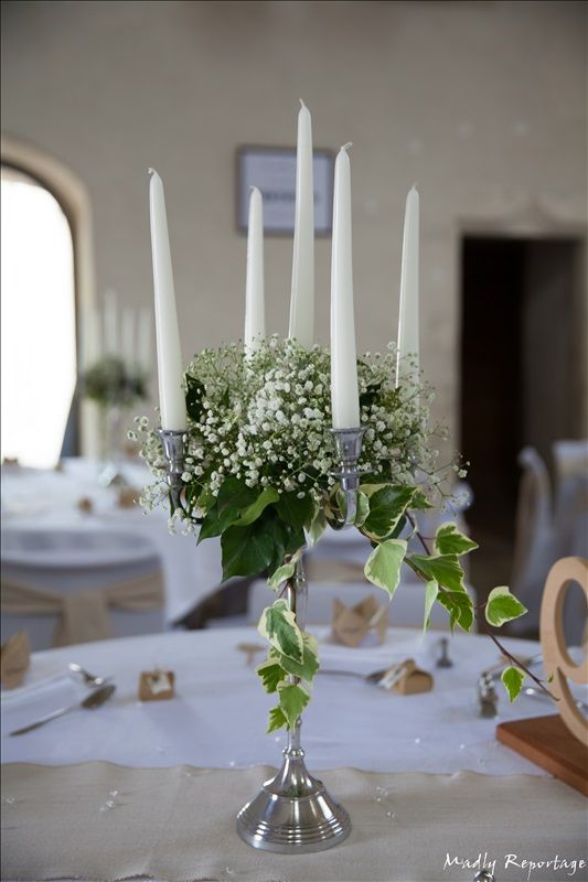mariage r tro chic 2016 chandelier fleuri en alu bross avec gypsophile et lierre conter. Black Bedroom Furniture Sets. Home Design Ideas