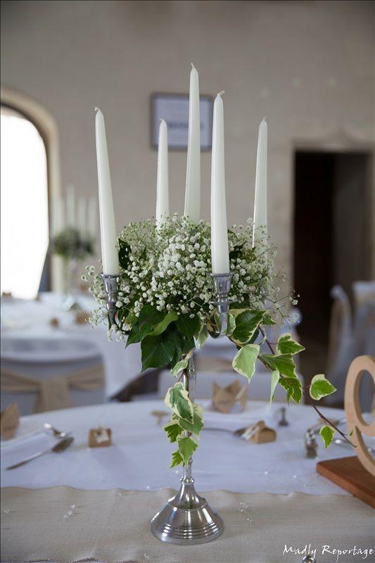mariage r tro chic 2016 chandelier fleuri en alu bross avec gypsophile et lierre conter. Black Bedroom Furniture Sets. Home Design Ideas