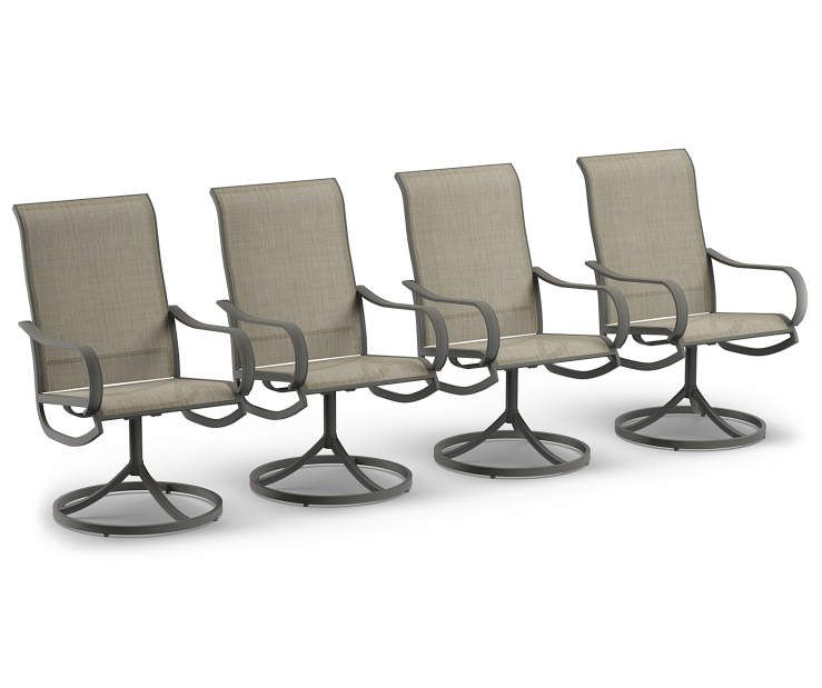 Wilson Fisher Hillcrest Sling Swivel Rocker Dining Chairs 4