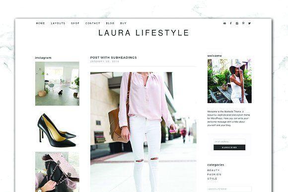 Modern Lifestyle Genesis Blog + Shop by Boutique Design Studio on @creativemarket