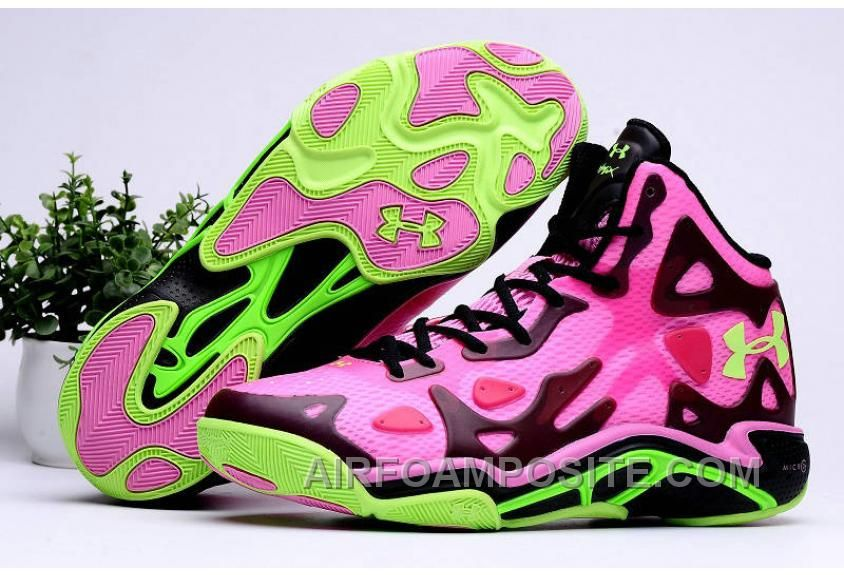 Authentic Under Armour Micro G Anatomix Spawn 2 Pink Black Hyper Green New Release JHJbYt