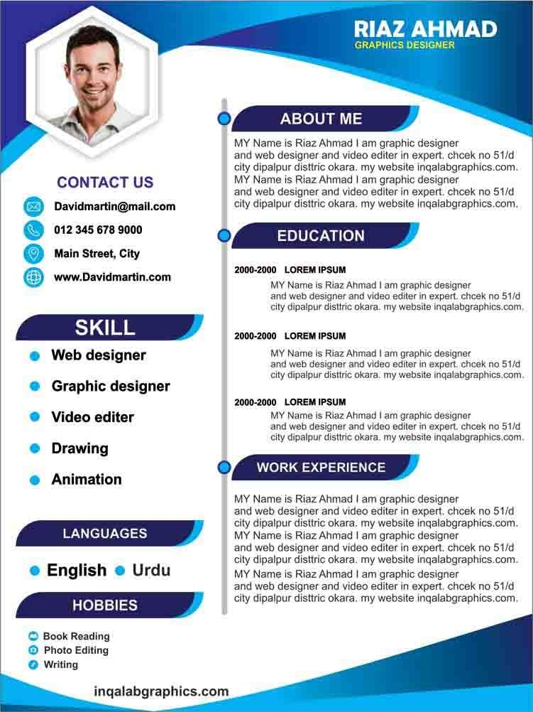 Template Cv Coreldraw : template, coreldraw, Template, Design, Photo, Files, Download, Template,, Templates, Download,, Resume