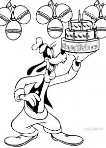Printable Goofy Coloring Pages For Kids Birthday Coloring Pages Happy Birthday Coloring Pages Free Kids Coloring Pages