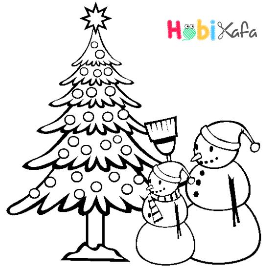Yeni Yıl Boyama Sayfaları Boyama Işleri Christmas Coloring Pages