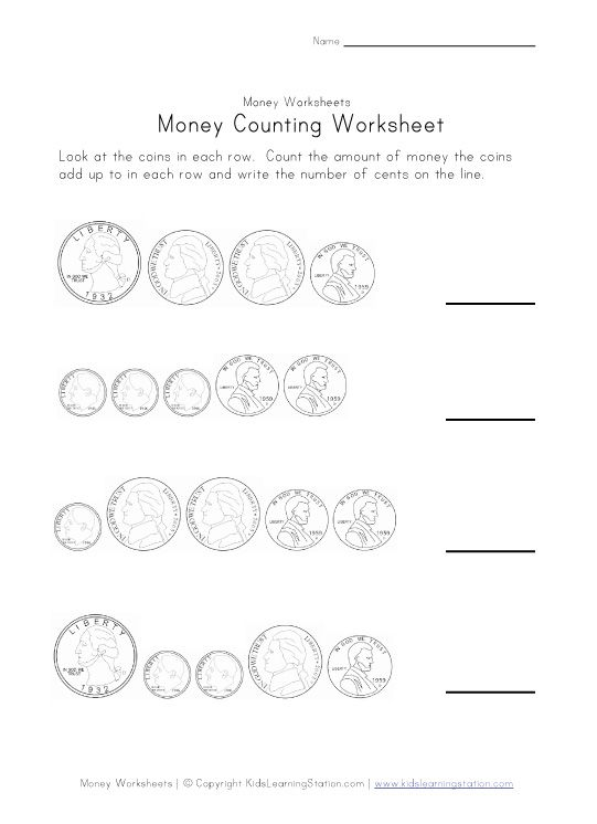 Counting and Coloring Money Worksheets -(Ideal) With this ...
