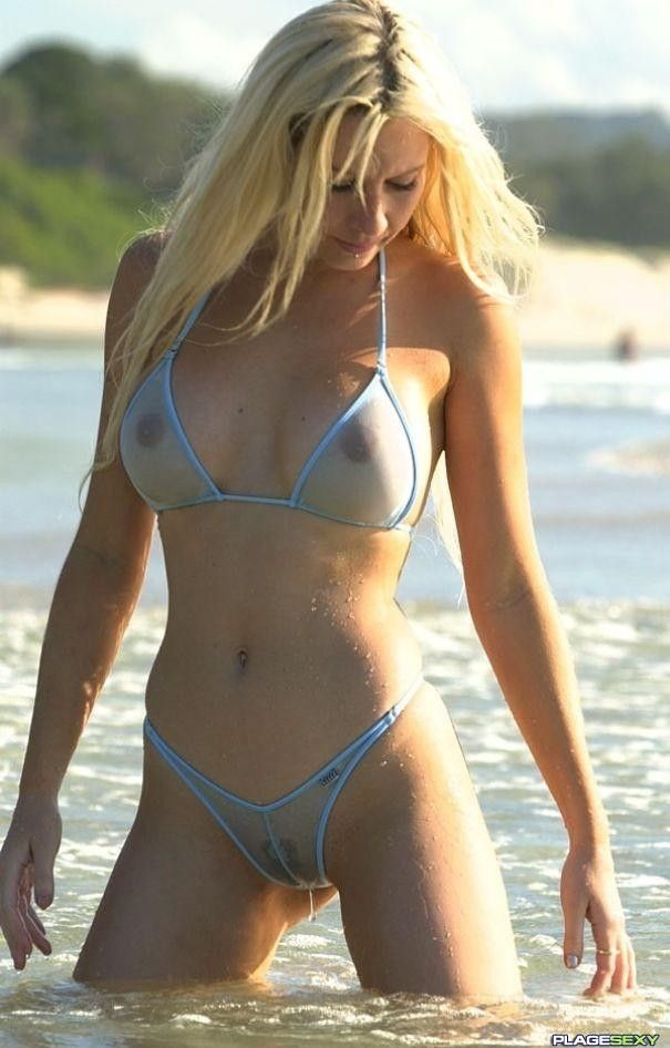 For the See thru bikini spring break collection