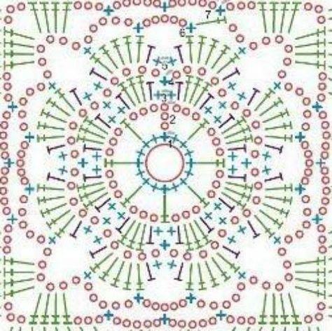 42 nouvelles idées pour le carré de motif en dentelle au crochet   – Häkeln