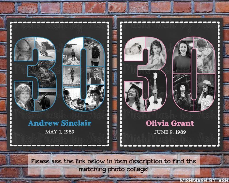30th Birthday Sign, 1989 Birthday Sign, Back in 1989